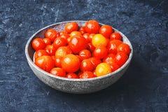De groenten in het zuur van de kersentomaat Royalty-vrije Stock Afbeelding