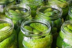 De groenten in het zuur van komkommers Stock Afbeelding