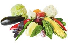 De groenten isoleren royalty-vrije stock foto's