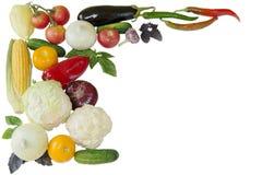 De groenten isoleren stock afbeeldingen