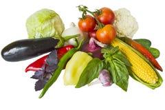 De groenten isoleren royalty-vrije stock foto