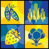 De groenten kleuren kruis Royalty-vrije Stock Foto's