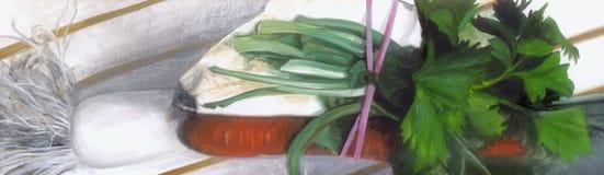 De groenten van de soep Royalty-vrije Illustratie