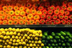 De Groenten van de supermarkt stock foto