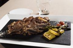 De groenten van het rundvleeslapje vlees whith Stock Foto's