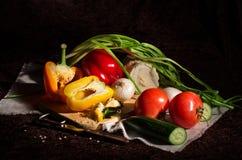 De groenten voor de salade Stock Afbeelding