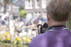 De groentenparade is een jaarlijkse gebeurtenis in de stad van Delft Stock Afbeelding