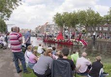 De groentenparade is een jaarlijkse gebeurtenis in de stad van Delft Royalty-vrije Stock Foto's