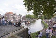 De groentenparade is een jaarlijkse gebeurtenis in de stad van Delft Stock Foto