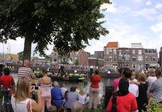 De groentenparade is een jaarlijkse gebeurtenis in de stad van Delft Royalty-vrije Stock Fotografie
