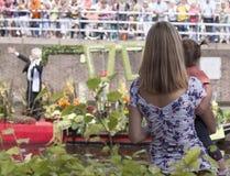 De groentenparade is een jaarlijkse gebeurtenis in de stad van Delft Royalty-vrije Stock Afbeeldingen