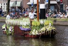 De groentenparade is een jaarlijkse gebeurtenis in de stad van Delft Stock Afbeeldingen