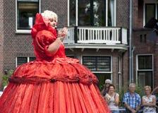 De groentenparade is een jaarlijkse gebeurtenis in de stad van Delft Stock Foto's