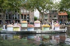 De groentenparade is een jaarlijkse gebeurtenis in de stad van Delft Royalty-vrije Stock Afbeelding