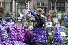 De groentenparade is een jaarlijkse gebeurtenis in de stad van Delft Stock Fotografie