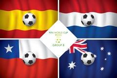 De Groep B. FIFA van Brazilië 2014 woordkop. Stock Afbeeldingen