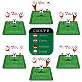 De groep B van 2008 van de euro Stock Illustratie