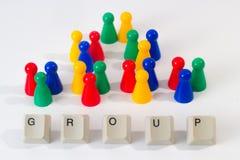 De groep bestaat uit zeven kleinere groepen stock afbeeldingen