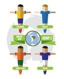 De Groep C van Brazilië 2014 vector illustratie