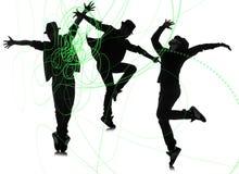 De groep danser in het dansen abstract concept Stock Foto's