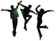 De groep danser in het dansen abstract concept Stock Foto