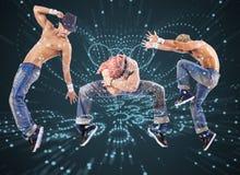 De groep danser in het dansen abstract concept Stock Afbeeldingen