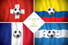 De Groep E. FIFA van Brazilië 2014 woordkop. Royalty-vrije Stock Foto's