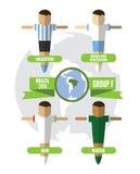 De Groep F van Brazilië 2014 vector illustratie