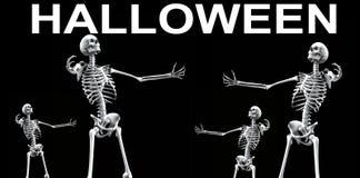 De Groep Halloween 4 van het skelet Royalty-vrije Stock Afbeelding