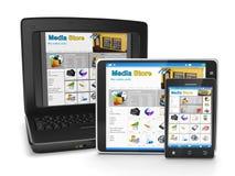De groep mobiele technologie Stock Afbeeldingen