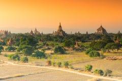De groep oude tempel in Bagan, Myanmar Royalty-vrije Stock Afbeeldingen