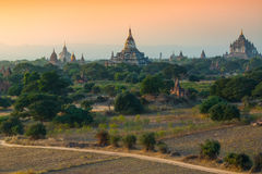 De groep oude tempel in Bagan, Myanmar Royalty-vrije Stock Fotografie