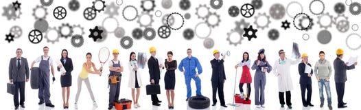 De groep van bedrijfsmensenarbeiders stock afbeelding