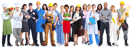 De groep van bedrijfsmensenarbeiders stock fotografie