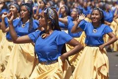De Groep van de Afrodescendientedans - Arica, Chili Stock Foto's