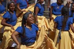 De Groep van de Afrodescendientedans - Arica, Chili Stock Foto