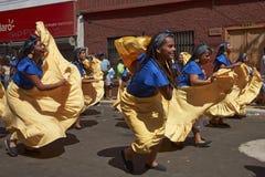 De Groep van de Afrodescendientedans - Arica, Chili Royalty-vrije Stock Afbeeldingen