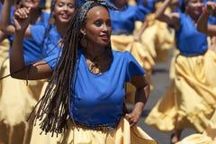 De Groep van de Afrodescendientedans - Arica, Chili Royalty-vrije Stock Foto's