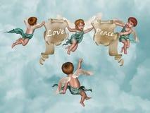 De groep van de engel stock illustratie