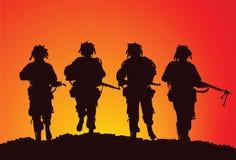 De groep van de infanterie de V.S. In de lucht Stock Fotografie
