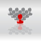 De groep van de leider Stock Afbeelding