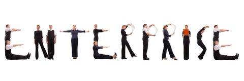 De groep van de onderneming Stock Foto