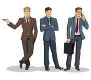 De groep van de zakenman status Royalty-vrije Stock Afbeeldingen
