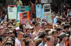 De groep van het contact bij de Vrolijke Trots 2010 van Parijs Royalty-vrije Stock Afbeeldingen