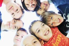 De groep van het kind royalty-vrije stock afbeeldingen