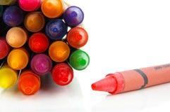 De groep van het kleurpotlood Stock Foto's