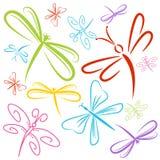 De Groep van het libelinsect Royalty-vrije Stock Fotografie