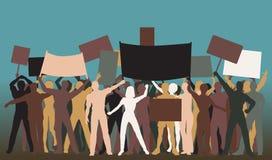 De groep van het protest stock illustratie