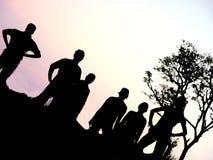 De Groep van het silhouet Stock Foto's