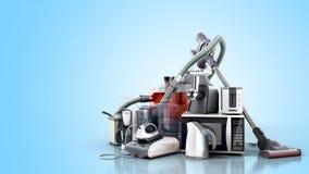 De Groep van huistoestellen het ijzerkoffie ma van de stofzuigermicrogolf Royalty-vrije Stock Afbeeldingen